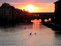 Sunset at Ponte Vecchio - Firenza